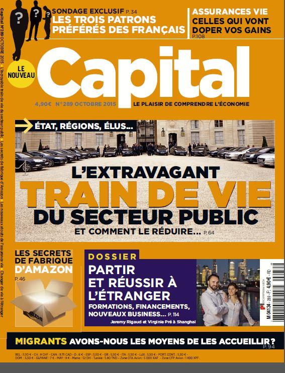 couv Capital octobre 2015 - Les patrons préférés des Français