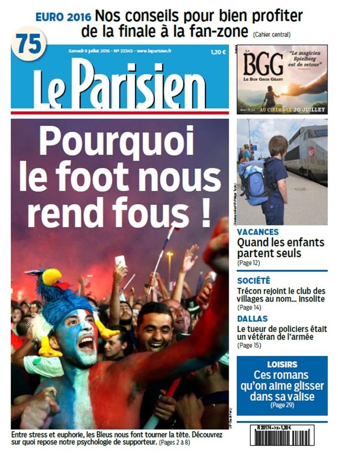 Couv Parisien 9 juillet image